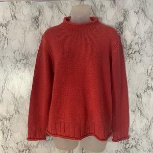 L.L.Bean Turtleneck Mock Neck Sweater SILK